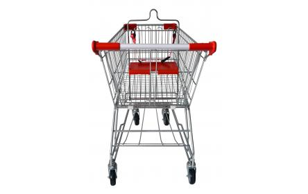 Our 90 litre grocery shopping trolley comes with child seat, restraint strap & 4 x TPE castors. Suitable as a small sized shopping trolley for fruit shops, supermarkets, convenience & retail stores, allowing easy navigation through narrow ailes.