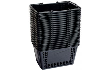 This black plastic shopping basket comes with twin carry handles & 30 litre capacity, it's the perfect shopping basket for any retail stores. Our retail shopping baskets come in a variety of colours & are fully customizable with your company logo.