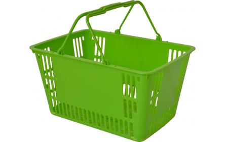 Our 30 litre lime green retail shopping basket is the perfect hand carry shopping basket for fruit shops, supermarkets & general retail stores. This retail shopping basket comes in a variety of colours & is fully customzable with your company logo.