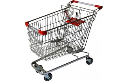With 149 litre capacity, this grocery shopping trolley comes with child seat, restraint strap & 4 x TPE castors, making it the ideal shopping trolley for fruit shops, supermarkets & retail stores. Option to customize handle & get travellator castors.