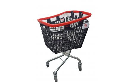 Uniquely designed plastic grocery shopping trolley for sale. With 100 litre capacity, its suitable for supermarkets, fruit shops & retail stores. Its lightweight design makes shopping convenient. Available now, ships Australia wide!