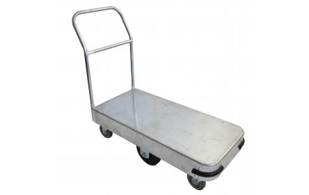 Constructed from galvanised steel, this small size single deck sheet stock trolley comes with 600kg capacity, deck size of 990mm x 465mm & 6-wheel configuration for ease of manouverability. Ideal for handling backroom, warehouse & storage equipment.