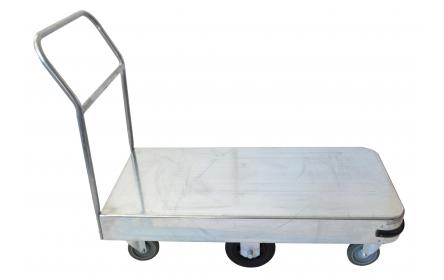 With 600kg capacity, 6 wheel configuration & single deck size of 1140mm x 565mm, this large size single deck galvanised sheet stock trolley is the perfect backroom, storage and warehouse equipment. On sale now. Ships Australia wide!