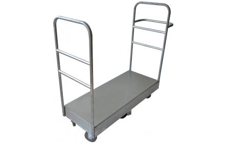 View our u boat galvanised sheet stock trolley, made for small & large retail stores, couriers & freight transport companies. Making stock transportation easy. It comes with 600kg capacity & deck size measuring 1140mm x 460mm. On sale now!