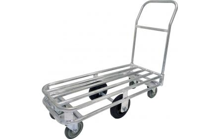 Our galvanised single deck tube stock trolley comes with a 500kg capacity, 6 wheel configuration for excellent manoeuvrability & deck size measuring 1000mm x 450mm. It's Ideal for transporting stock around retail stores, backroom & warehouses.