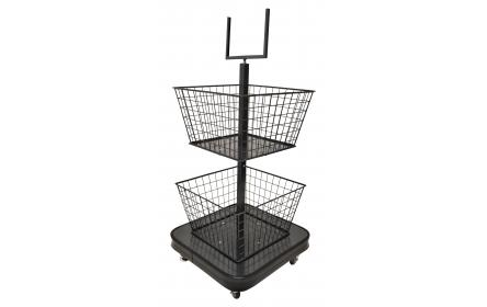 Created specifically to hold quick sale items & 'grab and go' products presented mid isle, near shop exits or last minute purchases near cash registers, this 2 tier merchandising stand is perfect for displaying quick sale items. Check it out now!