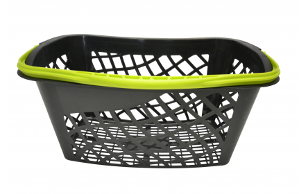 With 28 litre capacity & stylish lime green carry handle, this curved shopping basket is the perfect  shopping basket for any retail stores. Our shopping baskets come in a variety of handle colours & are fully customizable with your company logo.