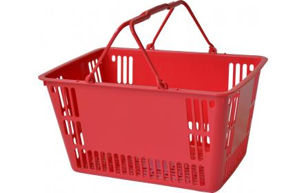 With 30 litre capacity & stable twin carry handles, this red plastic shopping basket is the perfect  shopping basket for any retail stores. Our retail shopping baskets come in a variety of colours & are fully customizable with your company logo.