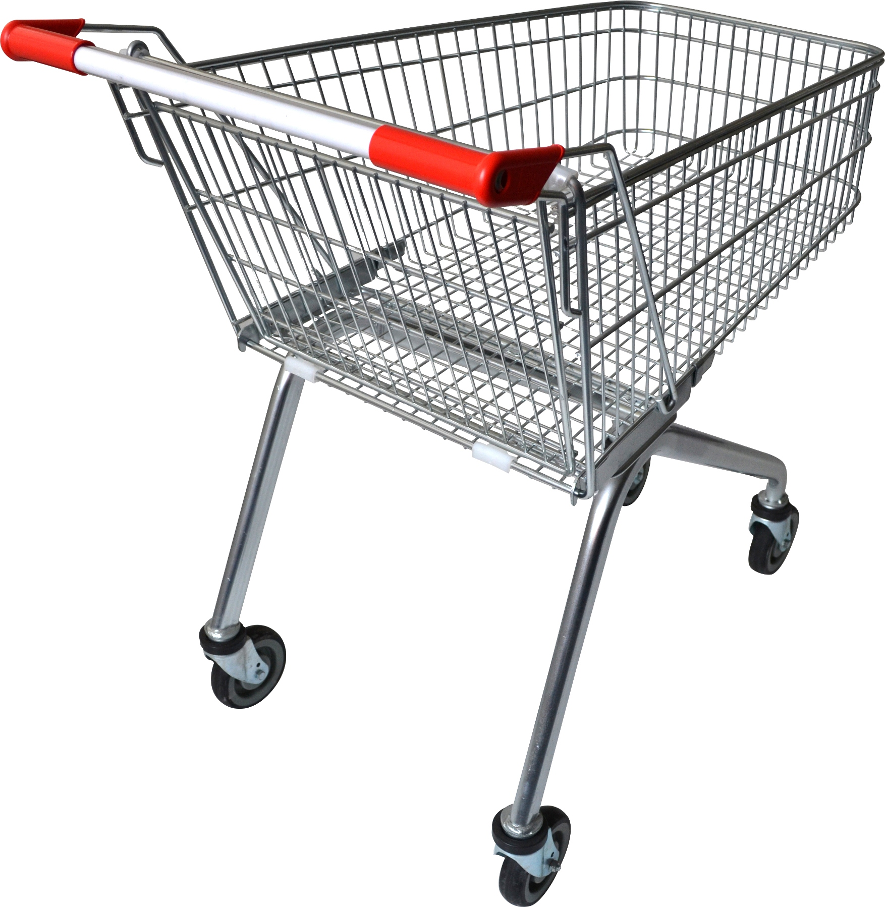 Ideal for small & large retail stores, supermarkets & fruit shops, this 100 litre zinc plated supermarket shopping trolley features a high shallow trolley basket, making grocery shopping easy & convenient. Also available in a 70 litre capacity.