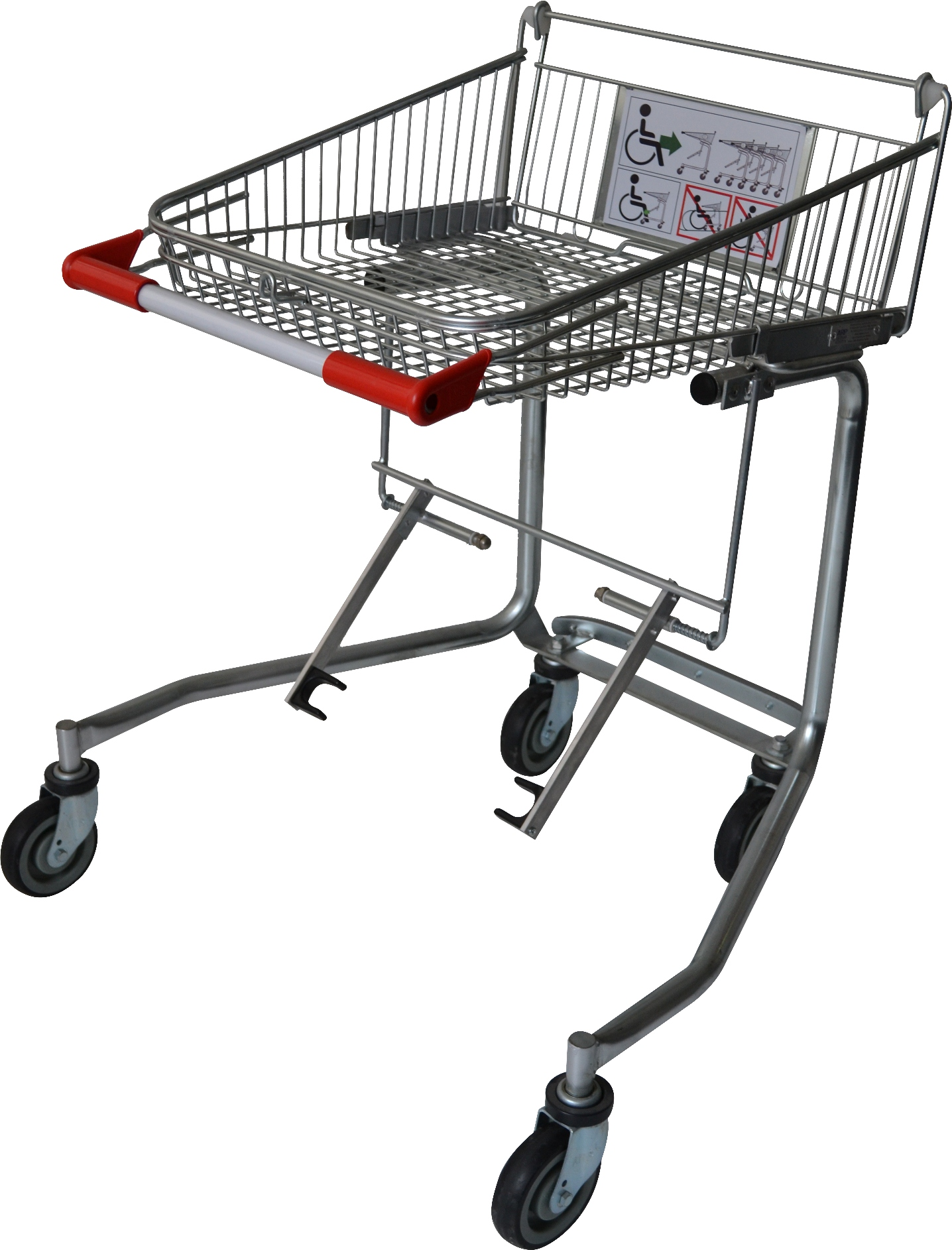 Make the shopping experience convenient with our disability shopping trolley, specifically designed for customers using wheelchair. The disability trolley simply locks into the wheelchair making grocery shopping easy & convenient. Enquire today!