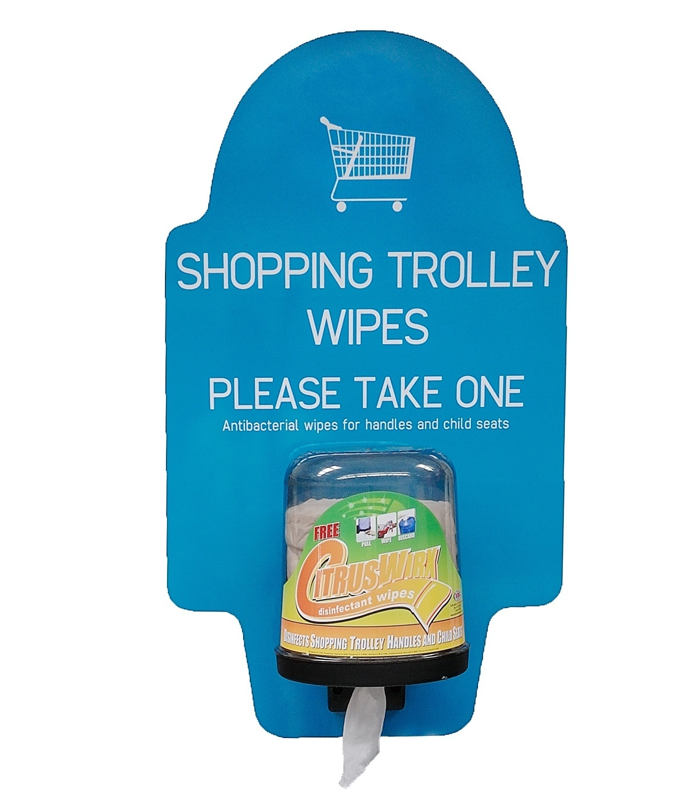 Our anti bacterial shopping trolley disinfectant wipes are non alcohol based wipes that are 100% biodegradeable. These trolley disinfectant wipes are suitable for supermarkets, gyms, gaming venues & general retail stores. Enquire now!