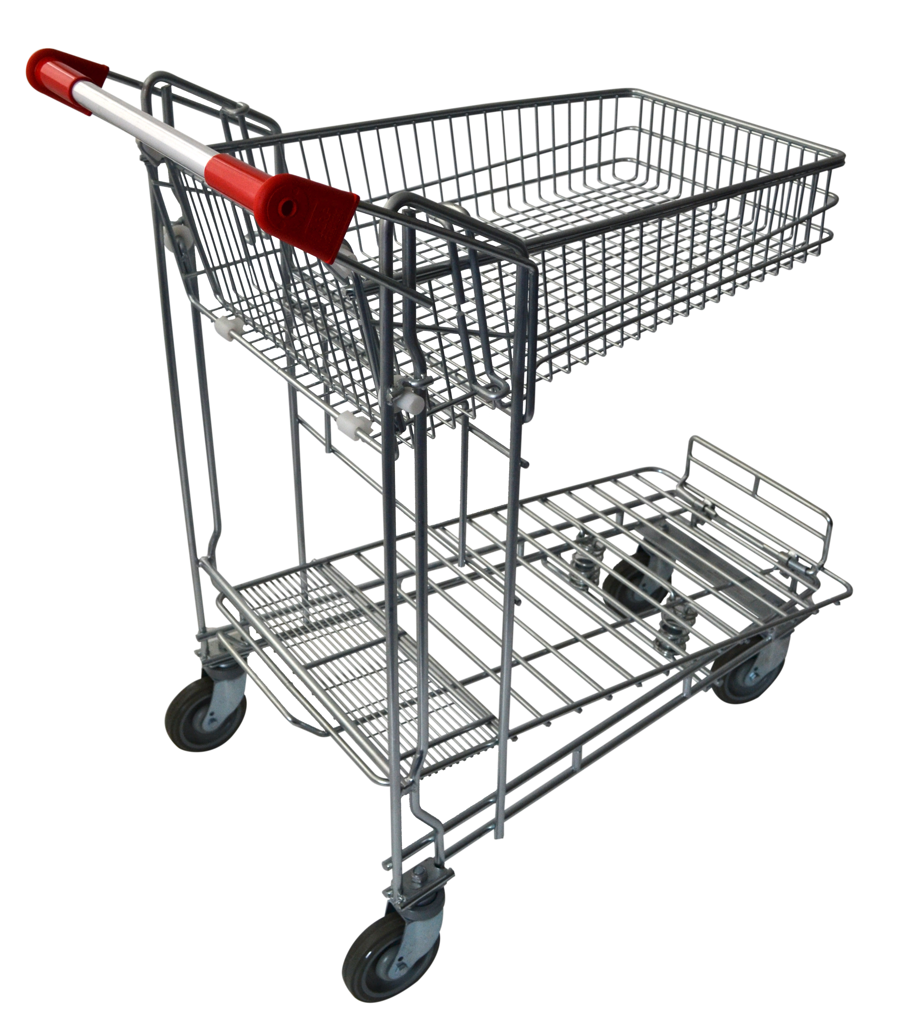 Check out this two tier hardware & liquor shopping trolleys which are capable of transporting small & large bulky items. It comes with 2 x fixed & 2 x swivel 125mm TPR castors. It features a foldable top basket with 45 litre capacity. Available now!