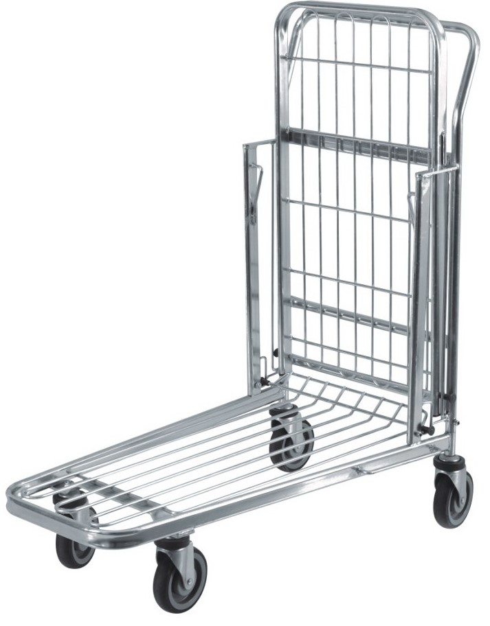 This two tier hardware & liquor shopping trolleys with foldable top shelf is capable of transporting small & large bulky items. It comes with 4 x fixed 125mm TPR castors, the ideal shopping trolley for hardware & retail stores. Enquire now!