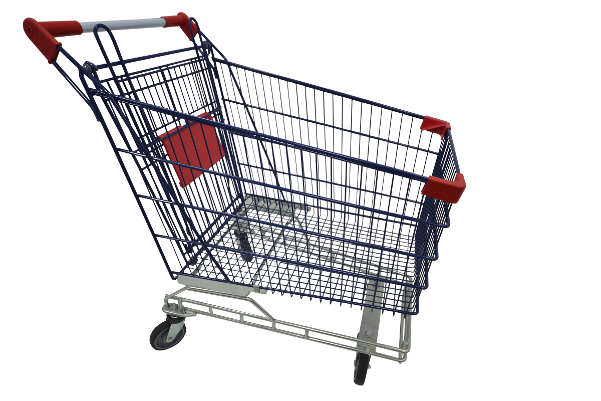Powder Coated Shopping Trolley